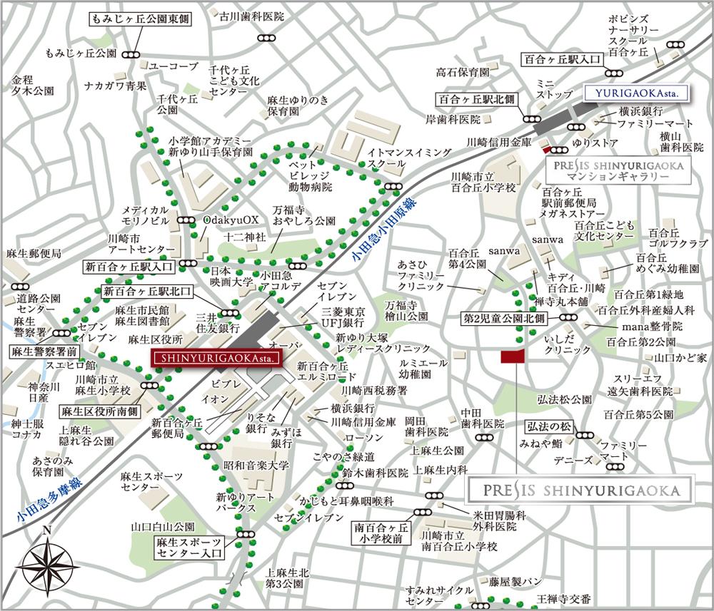 プレシス新百合ヶ丘:案内図