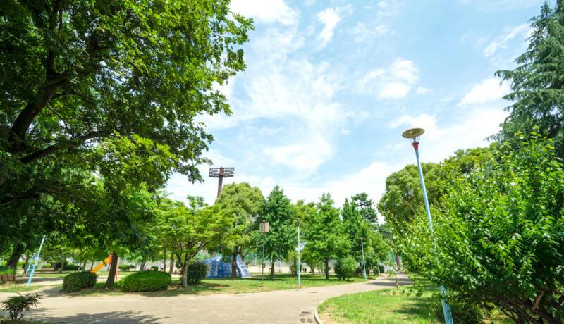 真田山公園 約110m(徒歩2分)