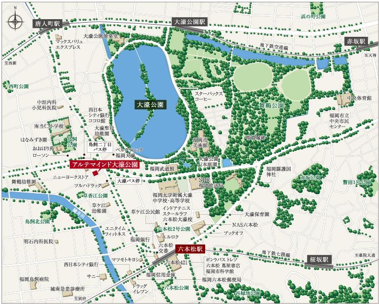 アルテマインド大濠公園:案内図