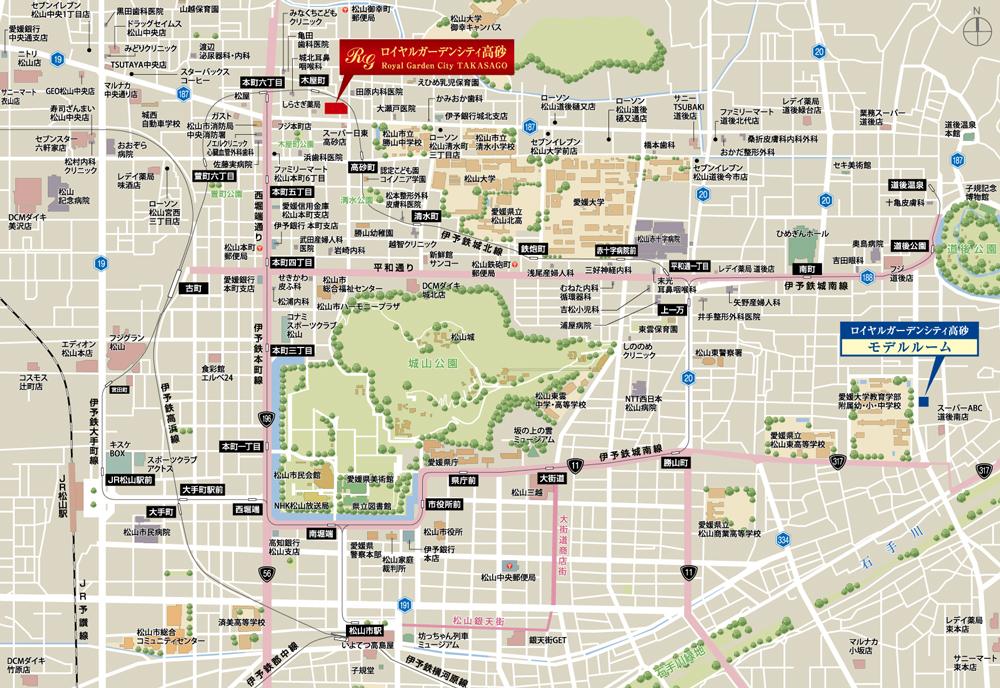ロイヤルガーデンシティ高砂:モデルルーム地図