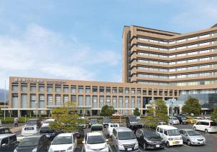 県立中央病院 約740m(自転車約4分)