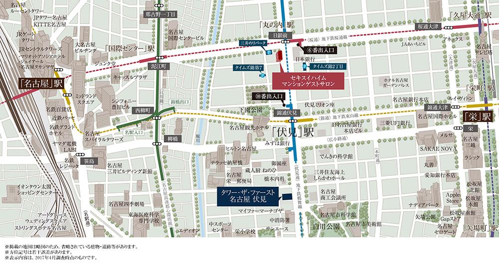 タワー・ザ・ファースト名古屋 伏見:案内図