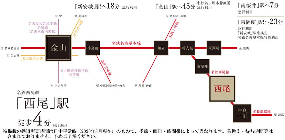 プレサンス ロジェ 西尾CL:交通図