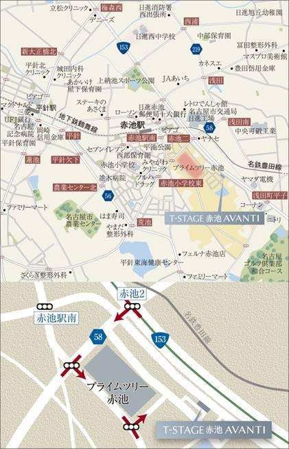 T-STAGE赤池 AVANTI:モデルルーム地図