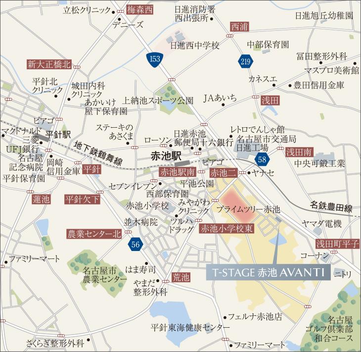 T-STAGE赤池 AVANTI:案内図