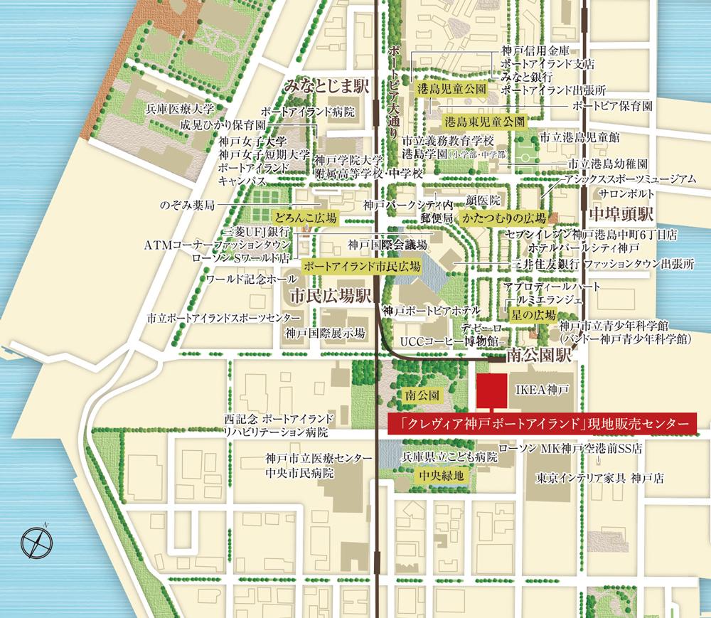 クレヴィア神戸ポートアイランド:案内図