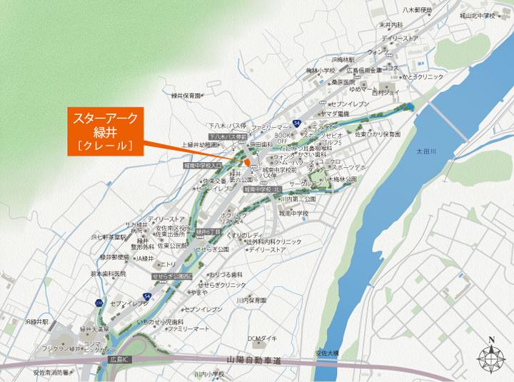 スターアーク緑井[クレール]:案内図