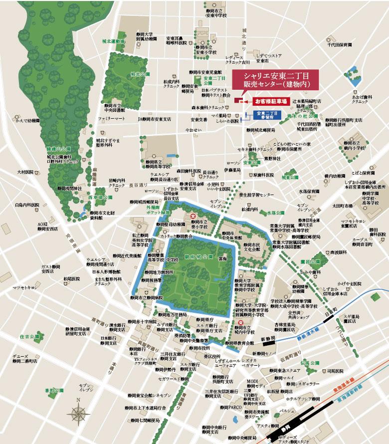 シャリエ安東二丁目:案内図