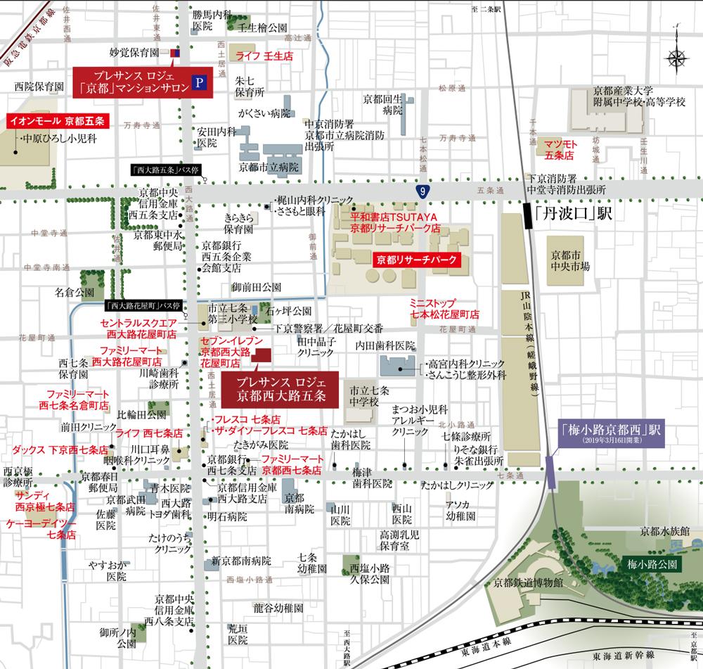 プレサンス ロジェ 京都西大路五条:案内図