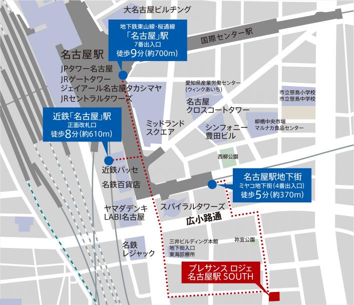 プレサンス ロジェ 名古屋駅 SOUTH:案内図