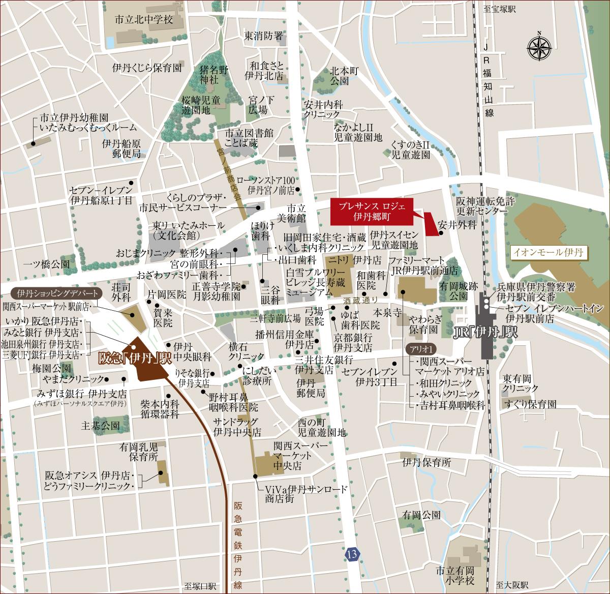 プレサンス ロジェ 伊丹郷町:案内図