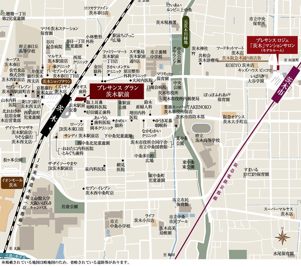 プレサンス グラン 茨木駅前:案内図