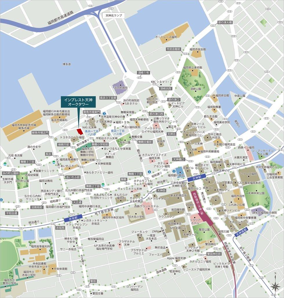 インプレスト天神オークタワー:案内図