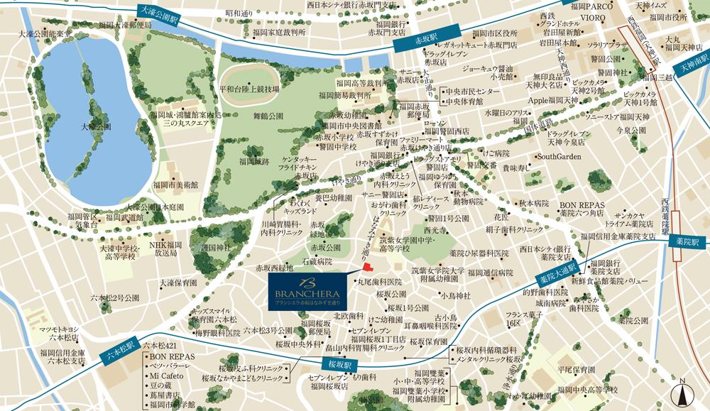 ブランシエラ赤坂はなみずき通り:案内図