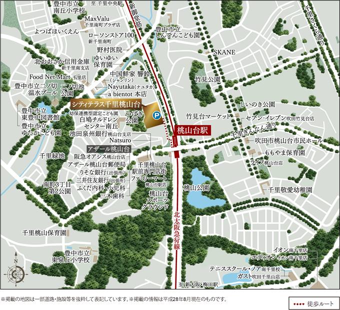 シティテラス千里桃山台:案内図