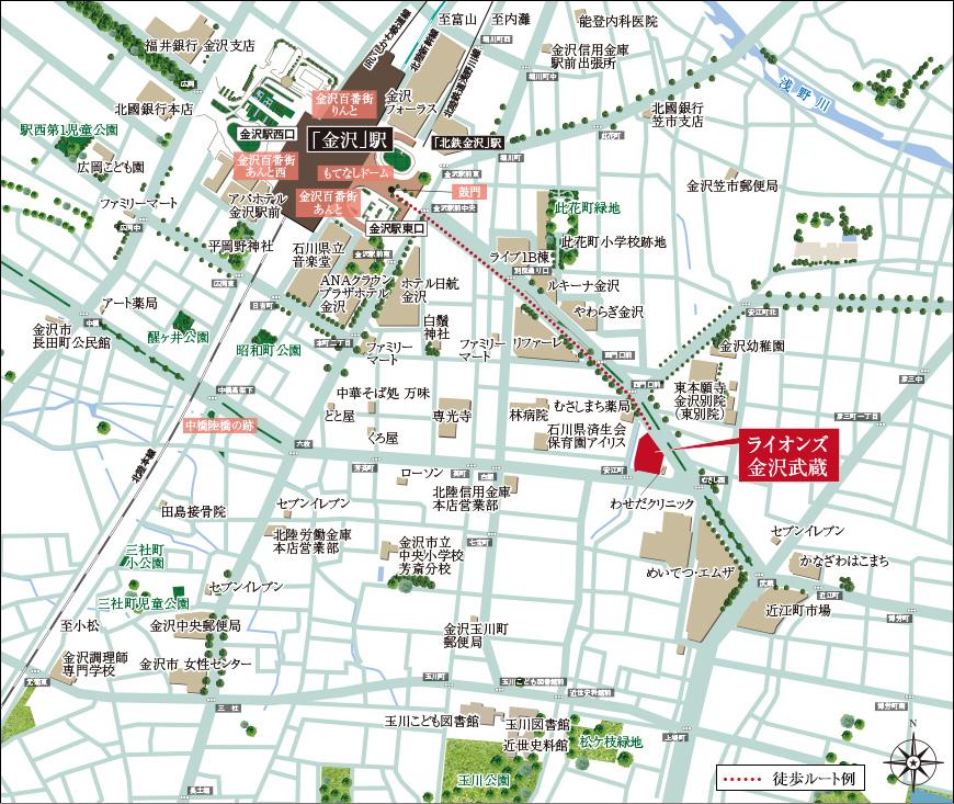 ライオンズ金沢武蔵:案内図
