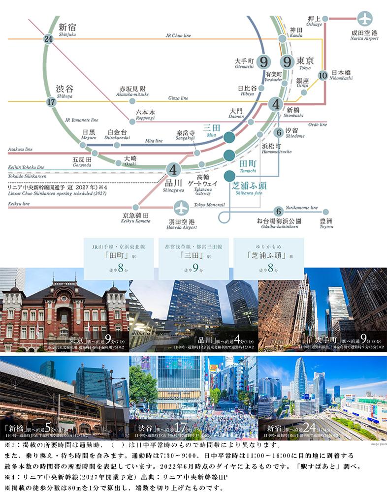 ブランズタワー芝浦:交通図