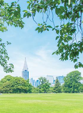 新宿中央公園 約580m(徒歩8分)