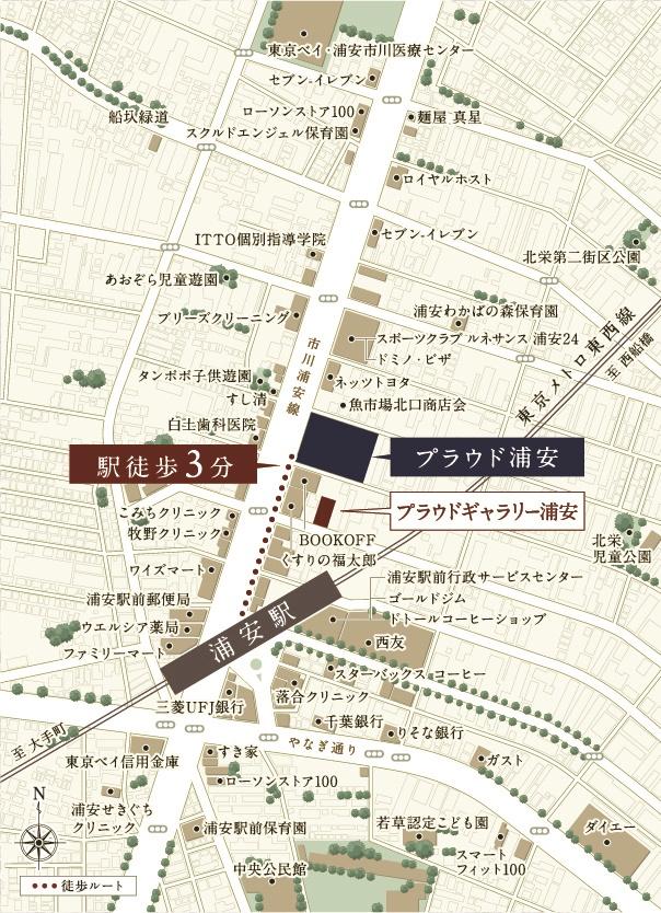 プラウド浦安:モデルルーム地図