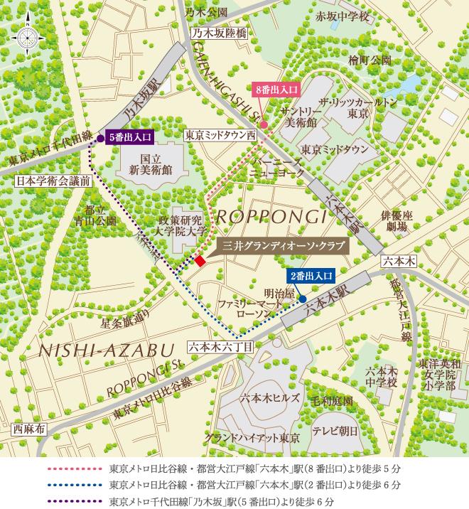 パークコート虎ノ門:モデルルーム地図