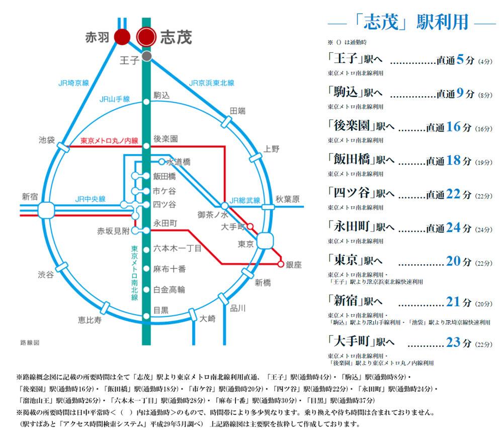 ザ・パークハウス オイコス 赤羽志茂 フォーススクエア:交通図