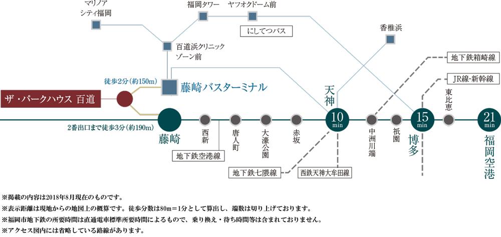 ザ・パークハウス 百道:交通図