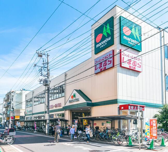 マルエツ新田店・しまむら新田店 約860m(徒歩11分)
