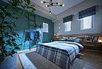 主寝室(モデルルームFgタイプ(有償オプション・メニュープラン)2018年3月撮影)こだわりのインテリアに囲まれて、身も心もゆったりと安らげます。