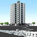 外観完成予想CG※掲載の環状通東駅直上構造概念図および完成予想CGは、設計図を基に作成したもので形状・色等は実際とは異なります。施工上の理由及び改良のため、変更となる場合がございますのでご了承ください