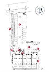 サンパーク武蔵塚駅東レジデンス(ランドプラン完成予想図)