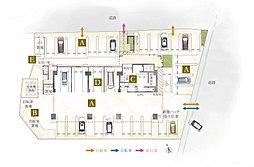 サンパーク大分駅南グラッセ(1階敷地配置図)