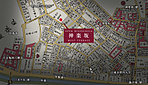 古地図:人文社復刻版「御江戸大繪圖」の一部を加工したものです。[原本刊行年:天保十四年(1843年)]協力:こちずライブラリ