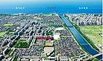 【現地周辺航空写真】※掲載の航空写真は現地周辺を平成26年8月に撮影したものにCG処理を施したもので、実際とは異なります。