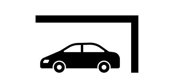屋根付き駐車場