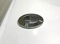 ワンプッシュで浴槽の排水口の開閉ができる排水栓。チェーンをなくし、使い勝手に配慮しました。