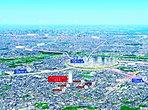 ◇空撮写真◇ 都内通勤、通学、横浜通勤、通学のご家族も安心の立地!この立地だからこそできる理想のご自宅がここにございます!