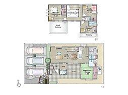 (2号地)、価格 3799万円、4LDK、土地面積164.81m2、建物面積104.05m2
