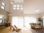 【自由設計】寝室は光がたっぷり入り込むつくりが良いですね。目覚めも良い事間違いなし。(アイーナシンフォニー貝塚市小瀬V52号地:2018年5月撮影)