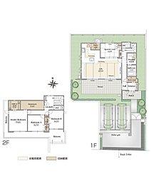 A棟 敷地面積:275.58m2(83.36坪) 延床面積:147.06m2(44.48坪)販売価格:9,650万円(税込)