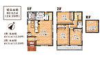 対面式のキッチンからはリビングを一望できます。嬉しい小屋裏収納付きの3LDKです。