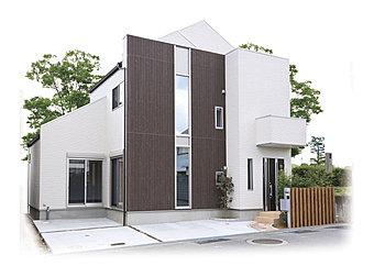 外観デザインは専属の建築士がご提案、色目のお打合せは専属のコーディネーターがご提案と、安心してお打合せが出来ます。(当社施工例)