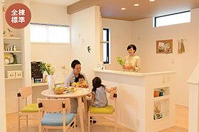 人気の対面キッチン