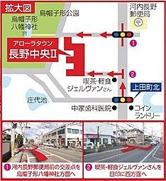 【アローラタウン長野中央2期】:案内図