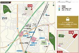 【茨城グランディハウス】グランエクシール紫峰ヶ丘III【陽光台小学校エリア】:交通図