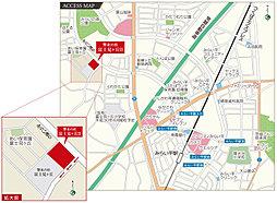 【茨城グランディハウス】響来の杜 富士見ヶ丘II【陽光台小学校エリア】:交通図