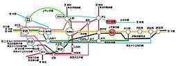 【レジェンドコートプレミアム菅野】グレイスフルな街、本八幡 スタイリッシュなベッドタウンが新登場:交通図