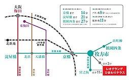 【高橋開発(株)】 レオグランデひまわりテラス:交通図