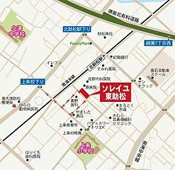 ソレイユ・東助松:交通図
