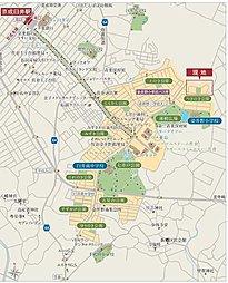 コモンステージ染井野みかげ坂 第2期【建築条件付土地】:案内図