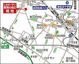 レオガーデン谷津~群青の街II~:案内図